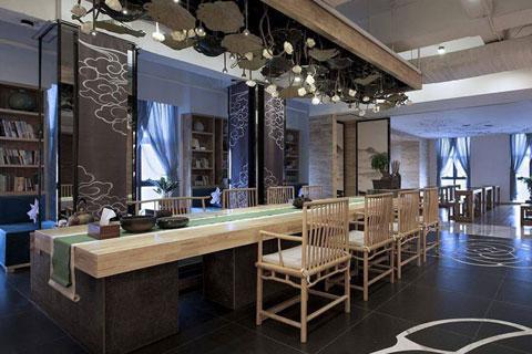 感悟生活的真谛 茶室禅意风格设计效果图