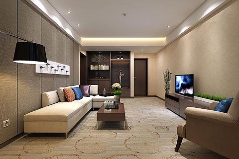 新中式酒店装修效果图,沉稳而不繁重让人回家的感觉