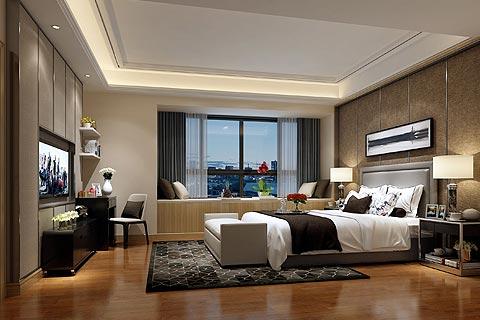 别墅现代中式装修效果图,时尚极简结合暖色调为主题