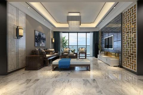 酒店中式装修效果图,居家型东方禅意韵镜酒店空间