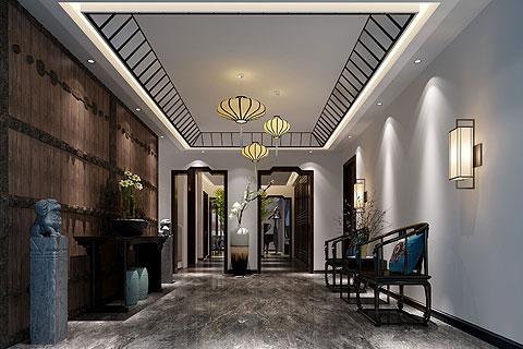 复式楼中式装修效果图,打造传统文化气息的意境空间