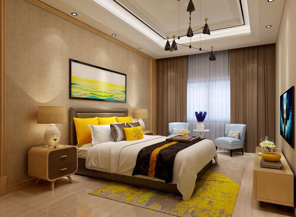 > 别墅新中式装修效果图,中式古韵家具与现代元素搭配