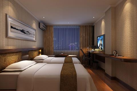 线条简练的酒店中式装修效果图,不失典雅与品位的特质