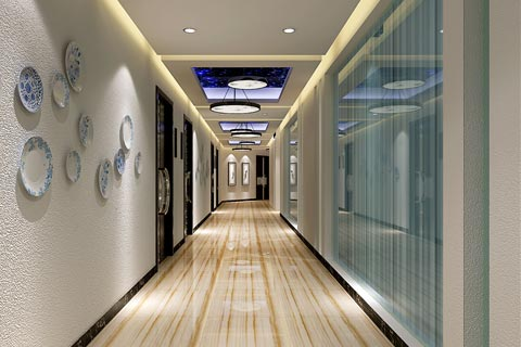餐饮酒店中式装修效果图 用大理石等材料展示华丽大气空间