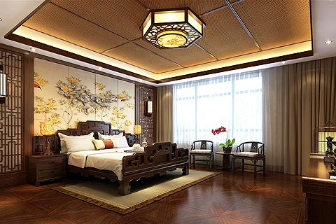 古典风别墅中式装修效果图 用配饰使古今文化内涵完美结合