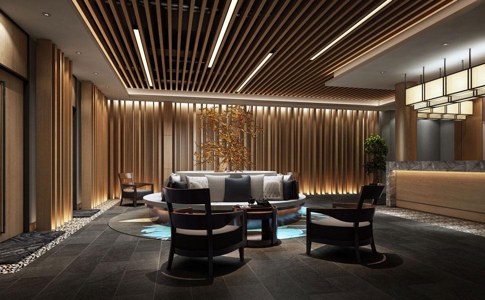 > 酒店中式裝修效果圖,客房和茶餐廳區裝修效果圖賞析