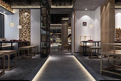 餐厅中式装修效果图赏析 中式设计意境中略带民族风情