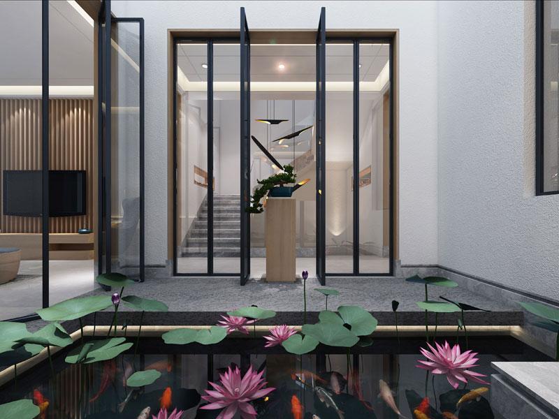 > 别墅中式装修效果图 禅意静思中领略中式简约住宅魅力