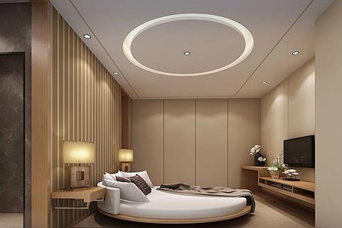 酒店中式装修效果图 原木色调造就温馨自然之美