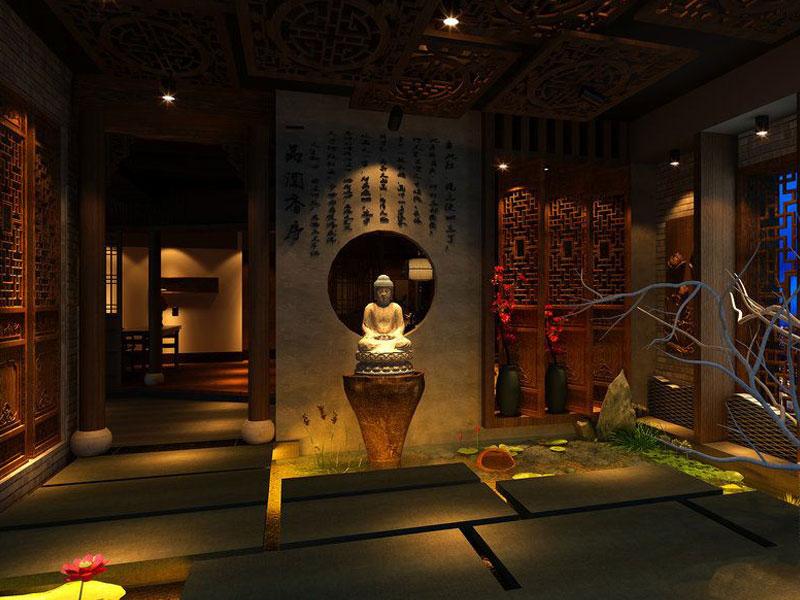 > 茶楼装修效果图 禅意设计是对茶文化最好的升华