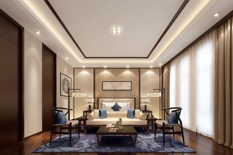 紫砂壶私人会所装修效果图 中式传统艺术文化中提取元素