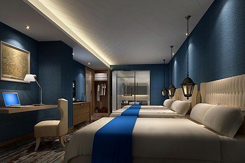 酒店中式装修效果图赏析 中式设计在光源给人温馨宁静感受