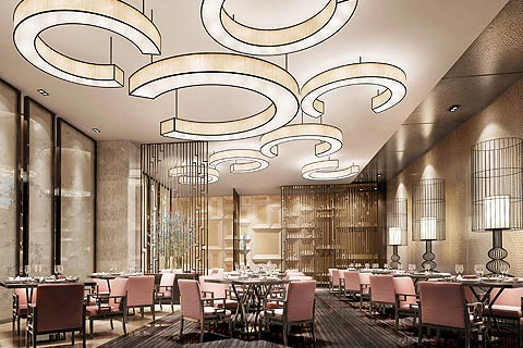 大型酒店中式装修效果图 中式意境中酝酿特色魅力