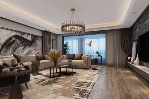 现代中式别墅装修效果图 现代简约揉入中式设计线条之美