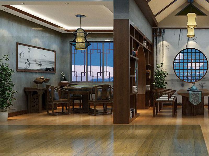 新中式办公室装修效果图