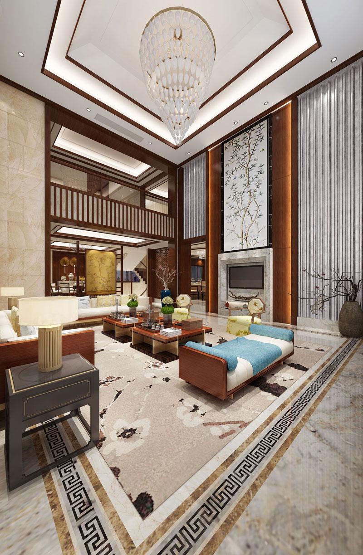 中式设计别墅装修效果图