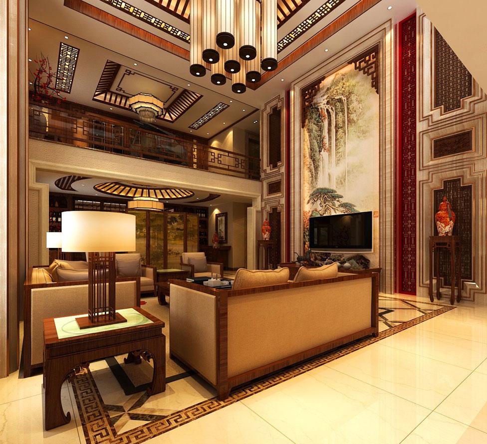 > 別墅新中式裝修效果圖賞析 傳統風格文化與時尚元素的融合