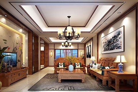 中式设计别墅装修效果图欣赏 新中式的混搭组成和谐家装
