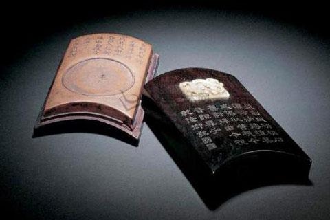 中式书房澄泥砚陈设  穿越千年的墨韵书香