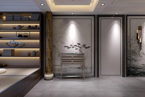 别墅中式装修效果图 新中式设计融合东方文化和现代元素