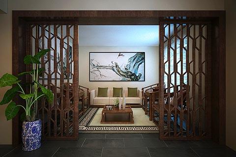 办公室中式装修效果图欣赏 在传统中式文化中办公感受氛围