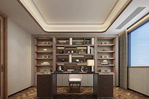 新中式别墅装修效果图 优雅的设计打造具有现代感的新中式