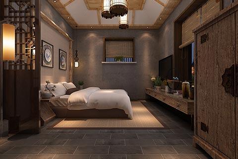 私人会所中式装修效果图欣赏 中式设计原木色打造禅境会所