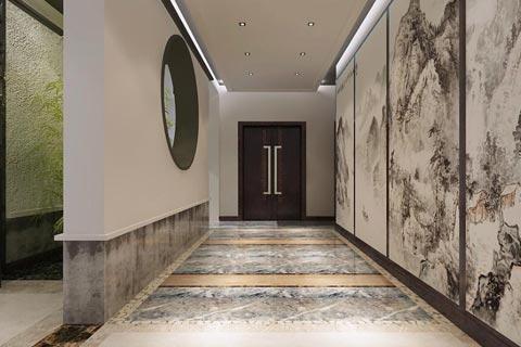 公司办公休闲会所中式装修效果图 中式设计营造出古风新意