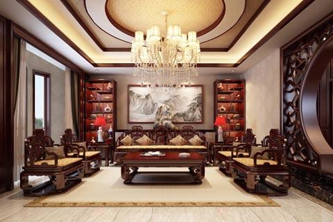别墅中式装修效果图 新中式让古典变得简约而不简单