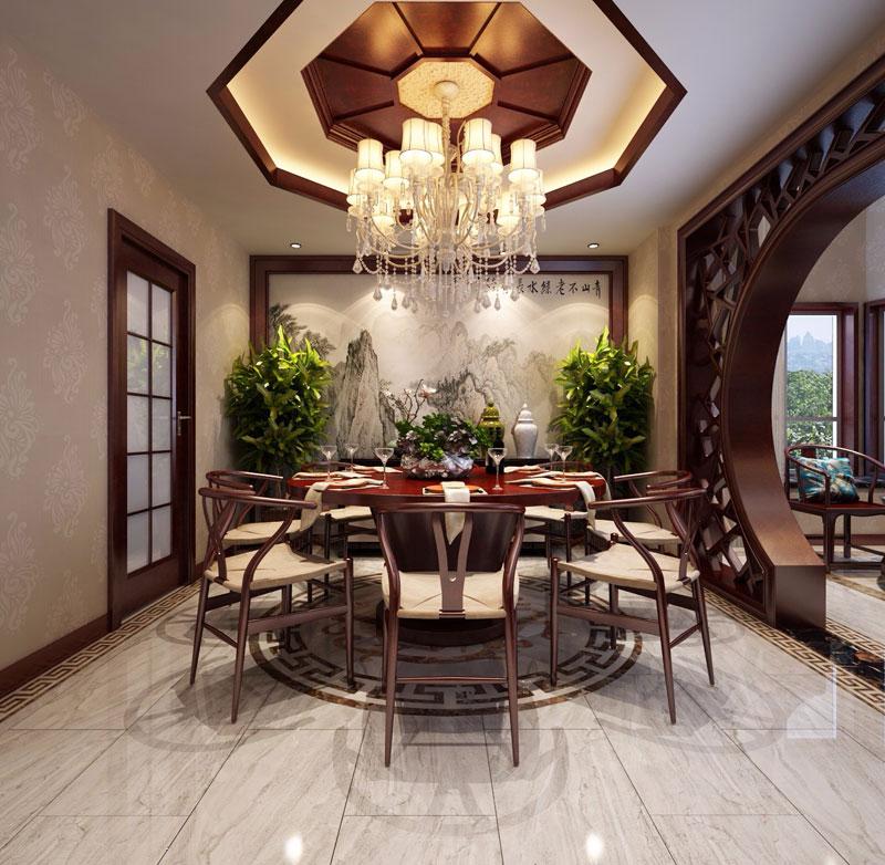 > 别墅中式装修效果图 新中式让古典变得简约而不简单