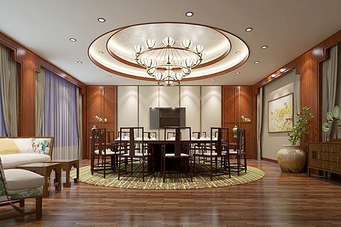 餐饮酒店中式装修效果图 中式设计打造古韵生态就餐环境