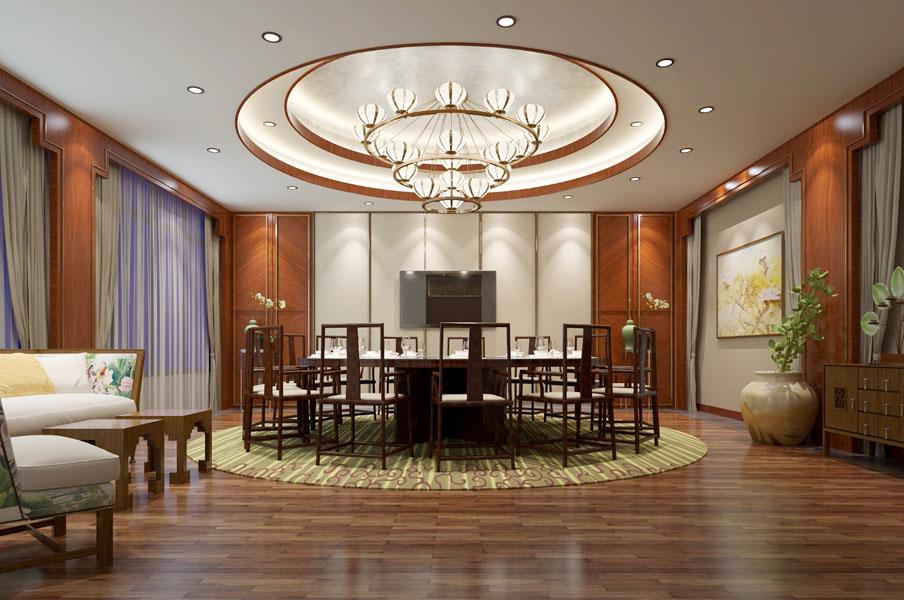 > 餐飲酒店中式裝修效果圖 中式設計打造古韻生態就餐環境