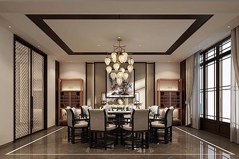 中式别墅装修效果图 中式设计造景豪迈与婉约的并存
