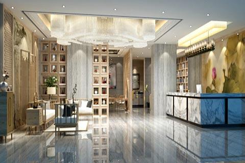 中式酒店装修效果图欣赏 中式设计让酒店花香四溢的感觉