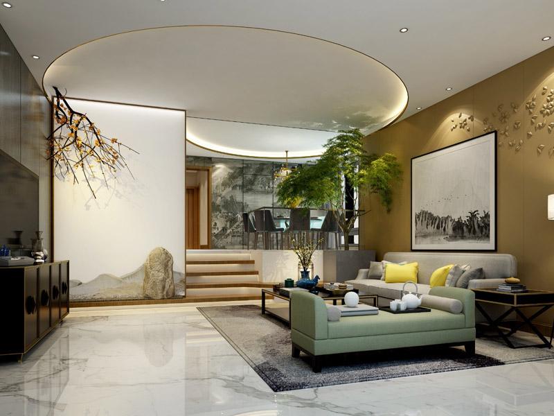 > 禪意別墅裝修效果圖 新中式融入禪意韻鏡設計出現代家居