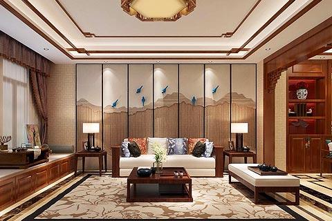 别墅中式装修效果图 新中式设计提炼传统文化融合现代生活