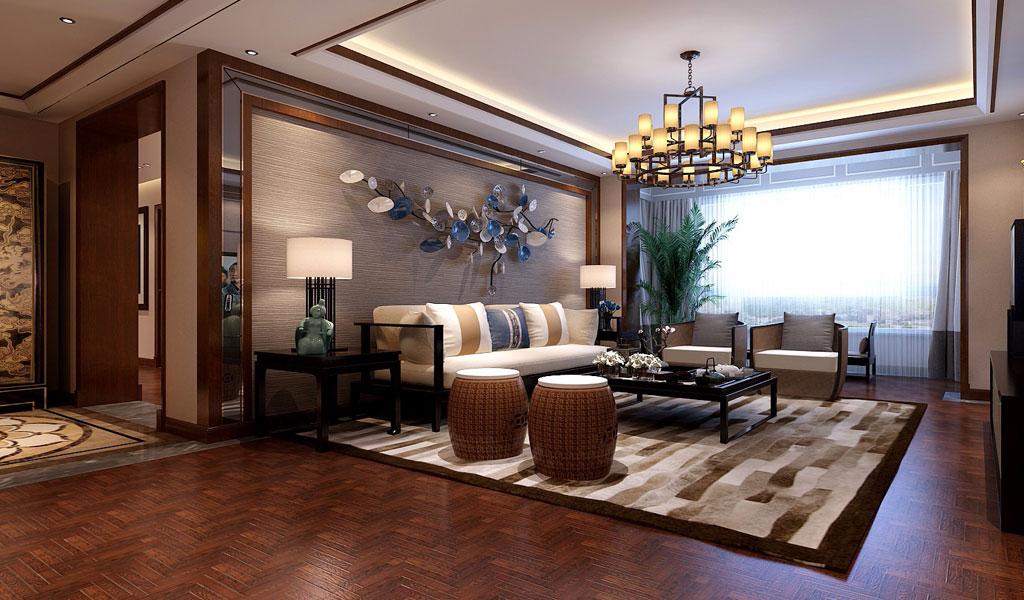> 新中式別墅裝修效果圖 中式設計既體現中國傳統文化的神韻