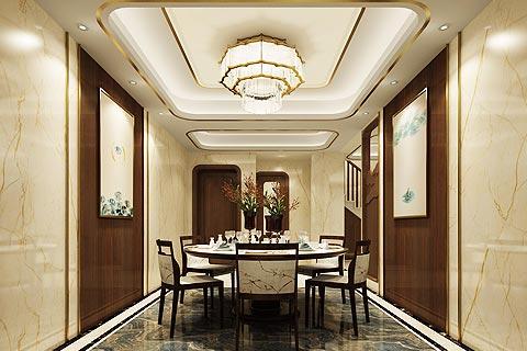 别墅中式装修效果图 略带禅意风格的新中式设计家居