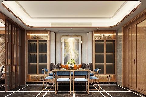 新中式设计别墅装修效果图 打造带现代节奏感的新中式家居