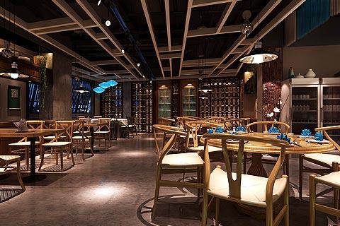 餐饮酒楼中式装修效果图 用新中式设计打造古韵就餐环境