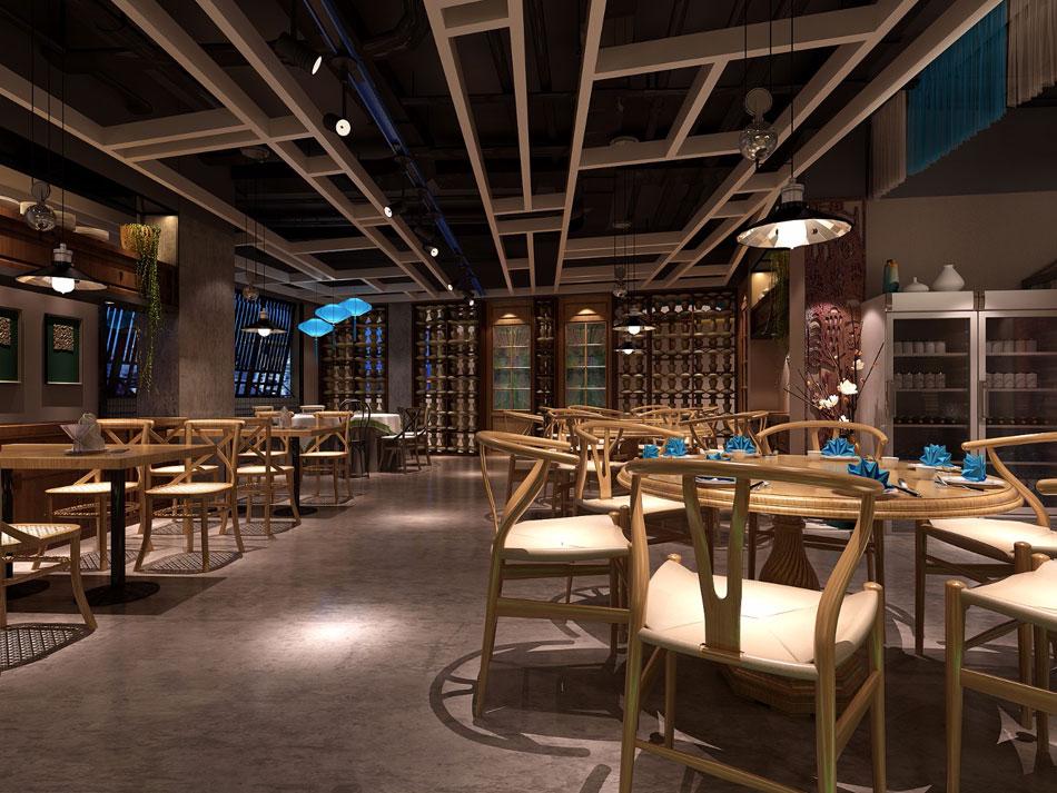 > 餐飲酒樓中式裝修效果圖 用新中式設計打造古韻就餐環境