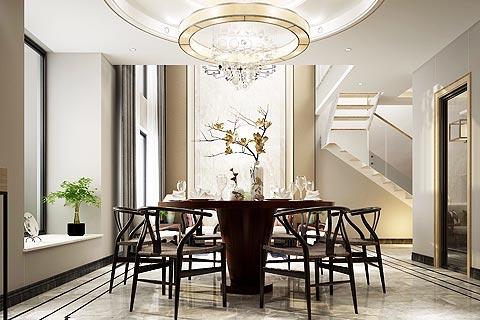 复式楼中式装修效果图 新中式设计让复式楼带小清新