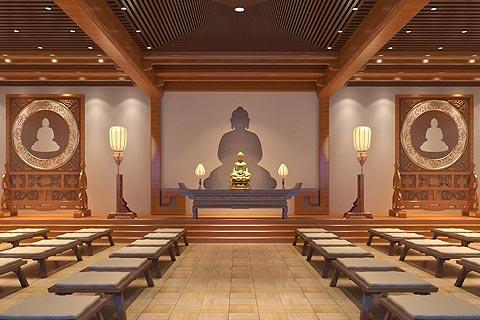 寺庙装修效果图赏析 寺院中式装修效果图组合欣赏