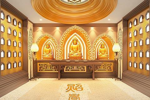 寺院装修效果图 禅韵设计装修寺院寺庙装修效果图