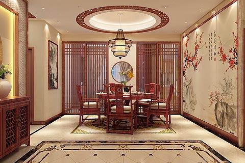别墅中式装修效果图 新中式古韵家居设计图片赏析
