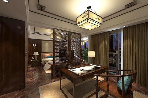 中式别墅装修效果图 中式的古典融入现代的舒适感