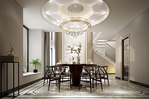 别墅新中式装修效果图 新中式搭配小清新打造意境家居生活