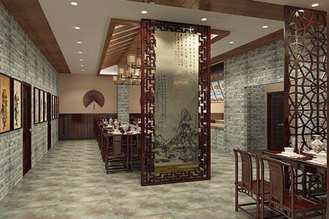 餐饮酒店装修效果图 中式餐饮酒店装修设计效果图赏析
