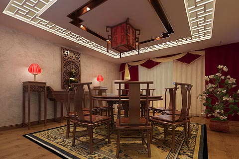 茶楼装修效果图 新中式设计茶楼装修效果图赏析
