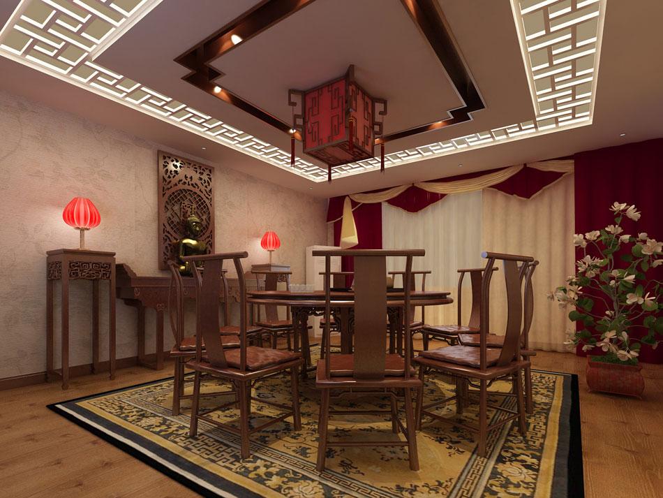 > 茶楼装修效果图 新中式设计茶楼装修效果图赏析